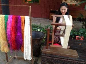 Spinning silk
