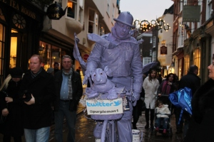 Purple Man in York