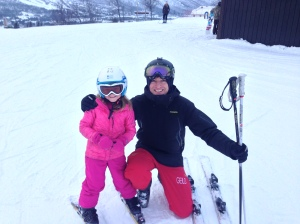 Zara and her ski instructor