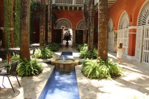 Casa Pestagua courtyard where we ate breakfast