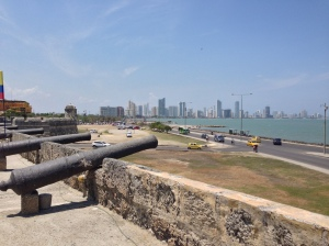 View of modern Cartagena