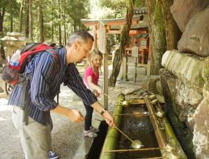 Washing hands at Nara