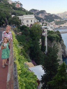 Walk to Amalfi - one of the few sections with a sidewalk