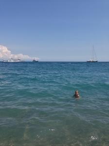 Swimming - Zara's favorite activity