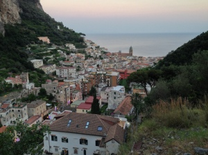 View down towards Amalfi town