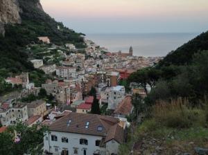 View down towards Amalfi town