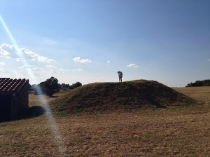 Etruscan tomb mounds in Tarquinia