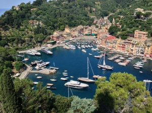View of Portofino from Castello Brown
