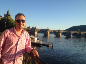 In front of the Charles Bridge