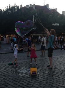 Chasing bubbles in the Old Town Square