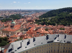 View from the Bell Tower at Prague Castle