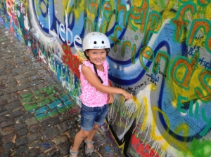 Zara's contribution to the John Lennon Wall