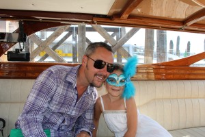 A masked princess and her Daddy